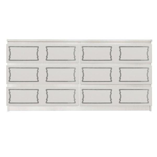 Overlays Dee Dee kit for ikea malm 6 drawer long dresser