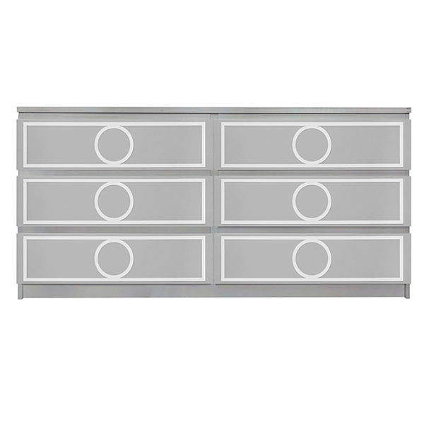 Overlays Gracie kit for ikea malm 6 drawer long dresser