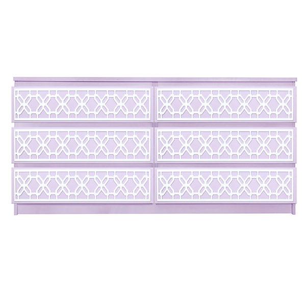 Overlays Gigi kit for ikea malm 6 drawer long dresser