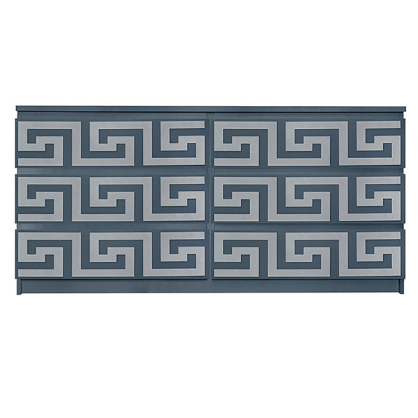 Overlays Greek Key kit for ikea malm 6 drawer long dresser