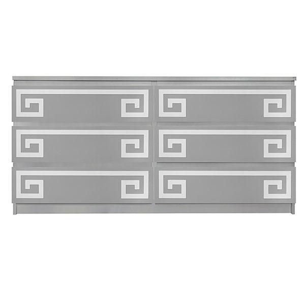 Overlays Greek Key Double kit for ikea malm 6 drawer long dresser