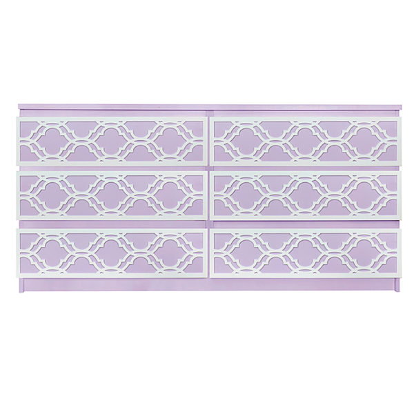 Overlays Khloe Full kit for ikea malm 6 drawer long dresser
