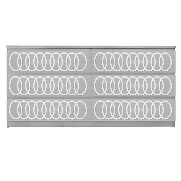 Overlays O'livia Kit Ikea Malm 6 drawer long dresser