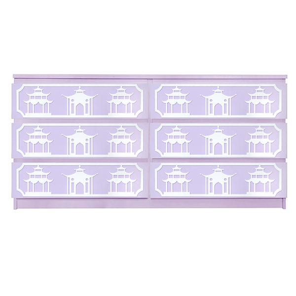 Overlays Pagoda Kit Ikea Malm 6 drawer long dresser