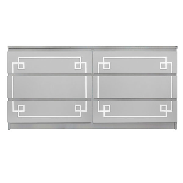 Overlays Pippa Malm #1 Kit Ikea Malm 6 drawer long dresser