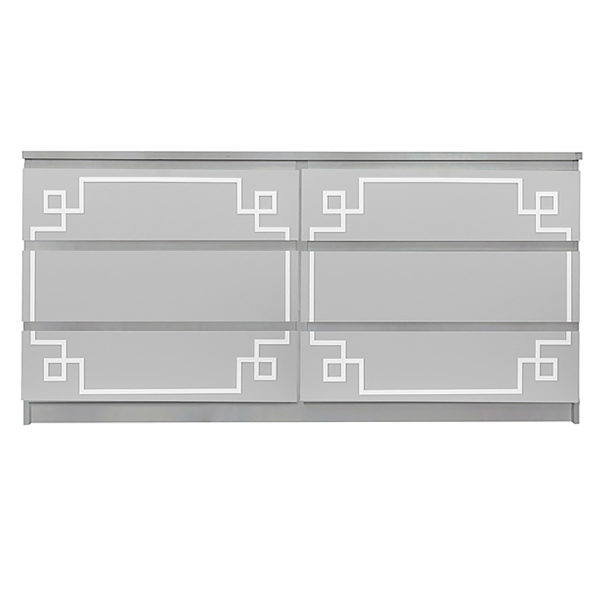Overlays Pippa Malm #3 Kit Ikea Malm 6 drawer long dresser
