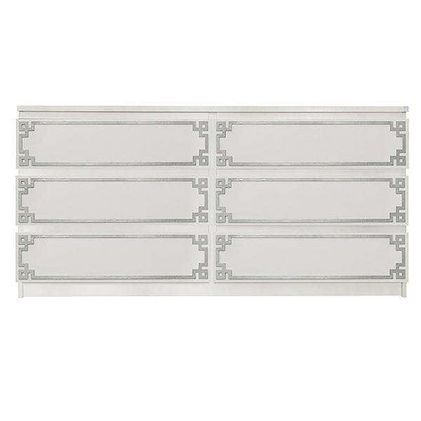 Overlays Pippa Single Kit Ikea Malm 6 drawer long dresser