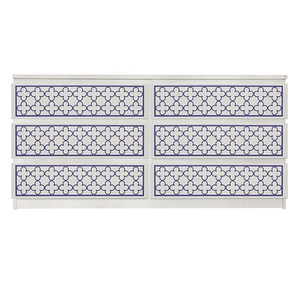 Overlays Quatrefoil kit for ikea malm 6 drawer long dresser