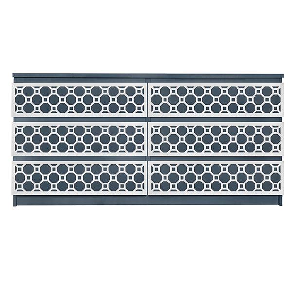 Overlays Ruby Kit Ikea Malm 6 drawer long dresser