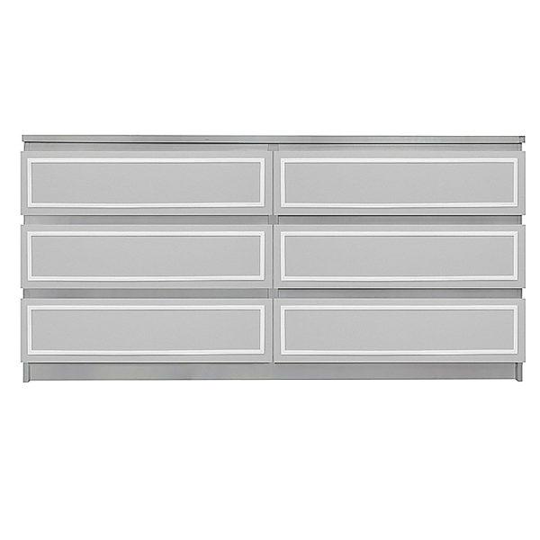 Overlays Rex Kit Ikea Malm 6 drawer long dresser