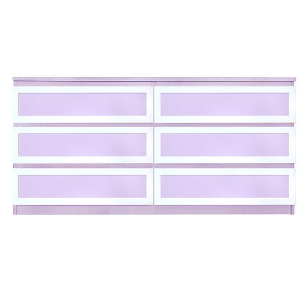 Overlays Rex Thick Kit Ikea Malm 6 drawer long dresser