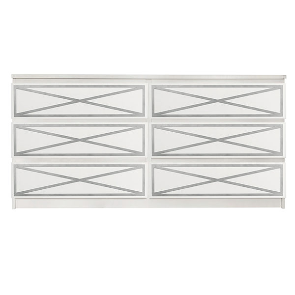 Overlays Xandra Kit Ikea Malm 6 drawer long dresser