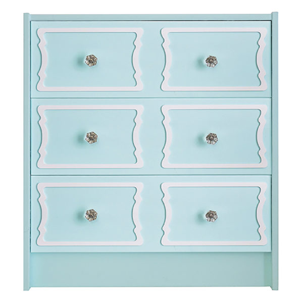 O'verlays DeeDee 6 Panel Kit for Ikea Rast 3 Drawer Chest