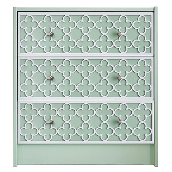 O'verlays Quatrefoil Kit for Ikea Rast 3 Drawer Chest