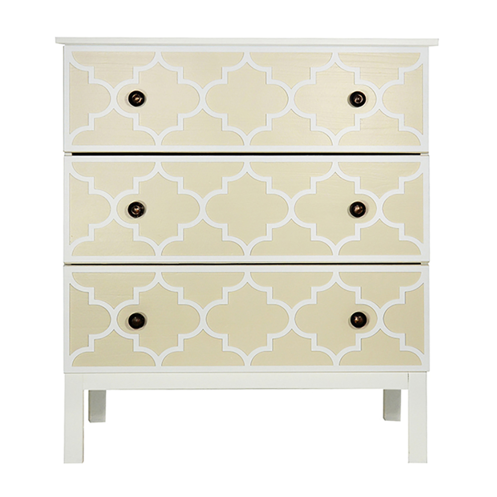 Overlays Jasmine Kit For Ikea Tarva 3 Drawer Chest