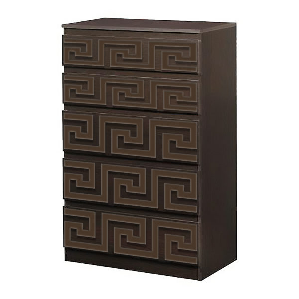 O'verlays Greek Key Kit for Ikea Kullen 5 Drawer Chest