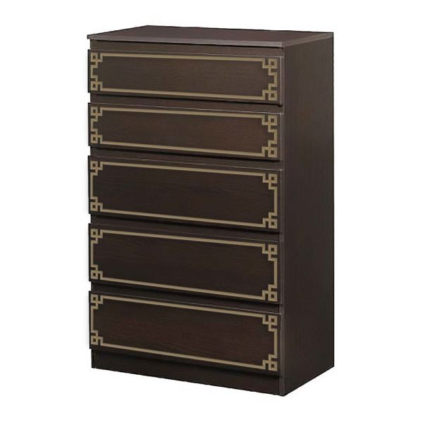 O'verlays Pippa Single Kit for Ikea Kullen 5 Drawer Chest