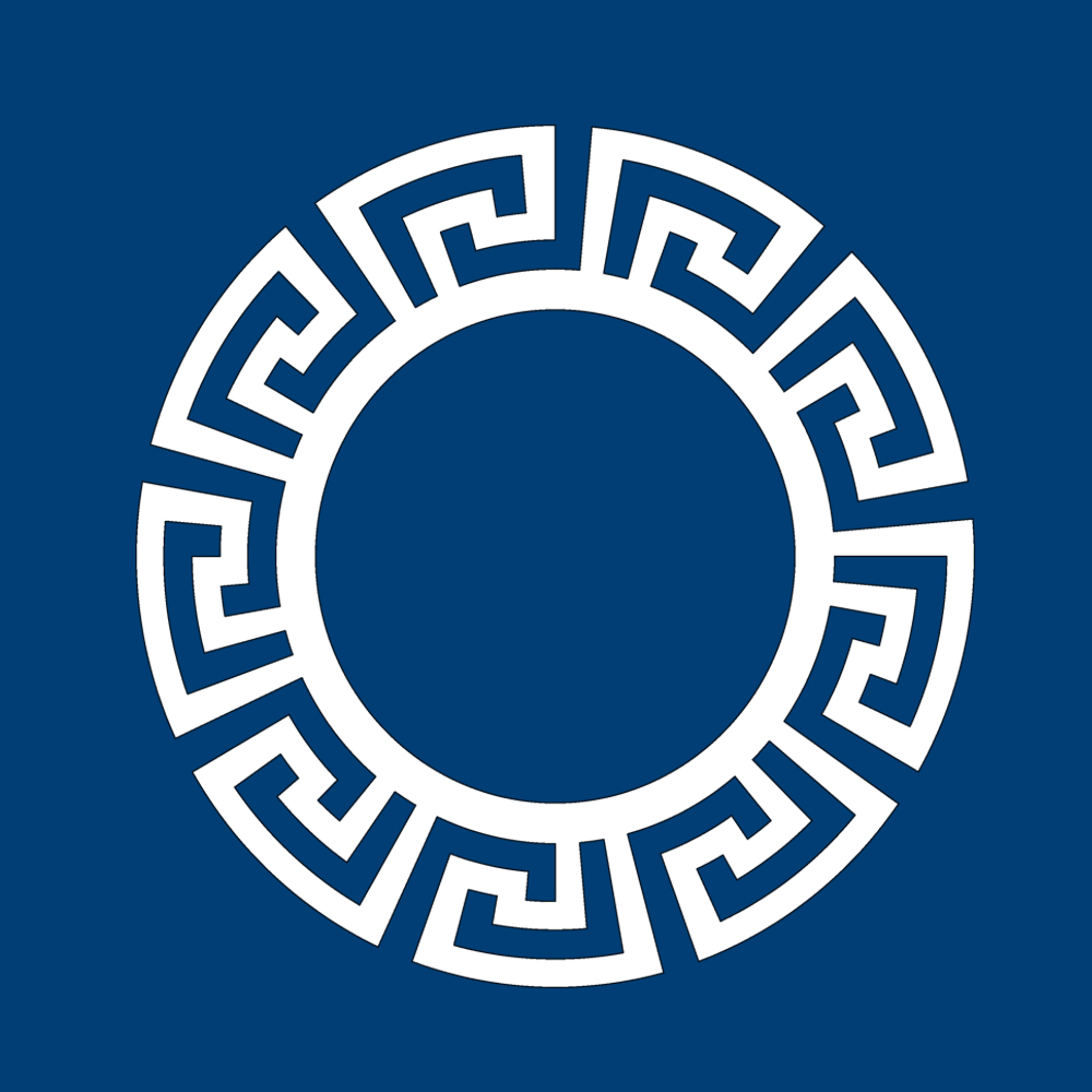 Overlays Greek Key Circle Frame 21 Panel