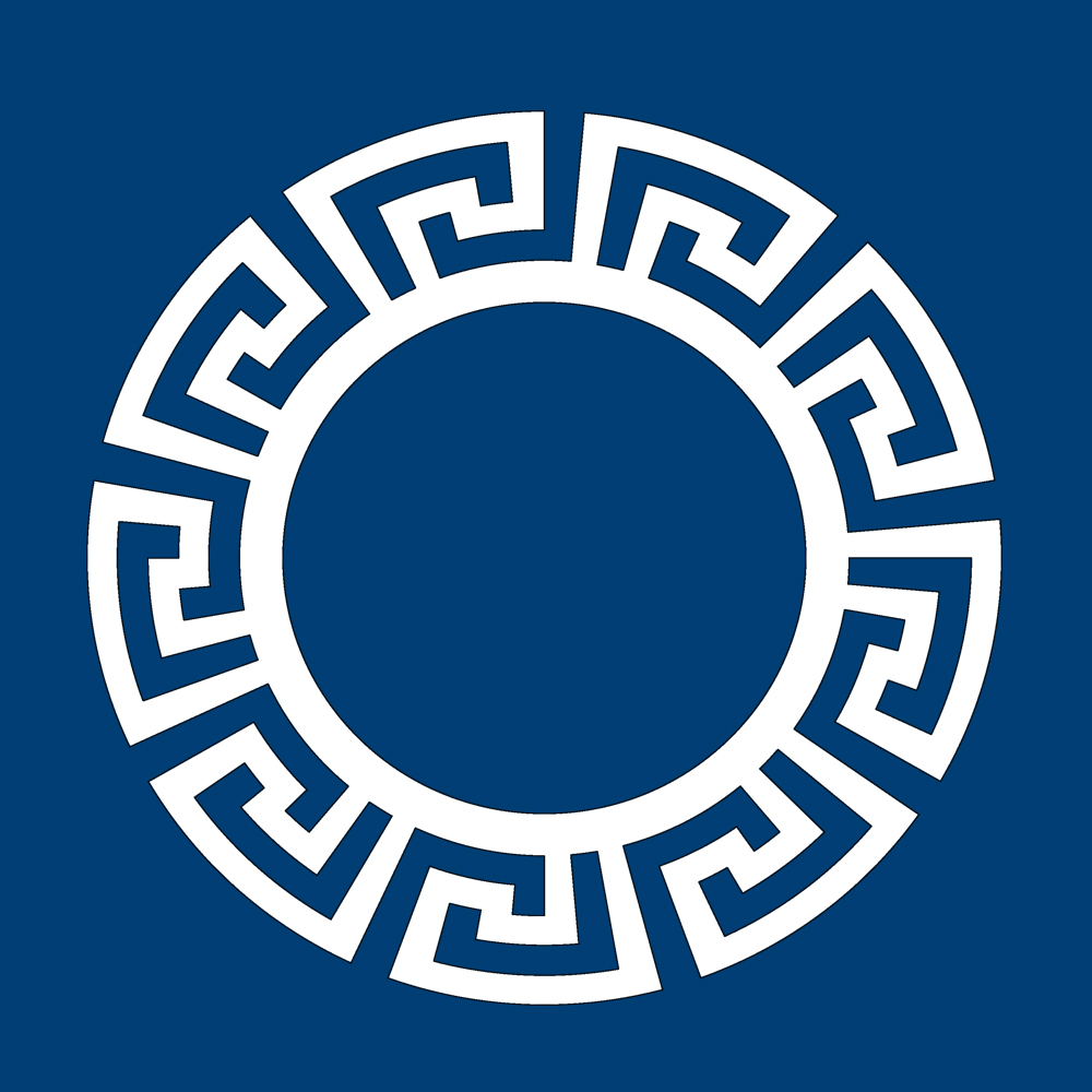 Overlays Greek Key Circle Frame Panel