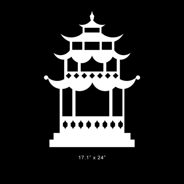 "Pagoda O'verlay 24"" x 17.125"""