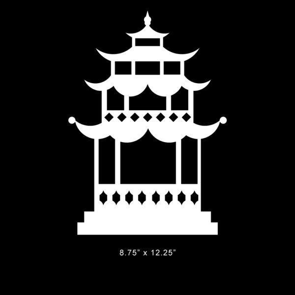 """Pagoda Small O'verlay 12.25"""" x 8.75"""""""