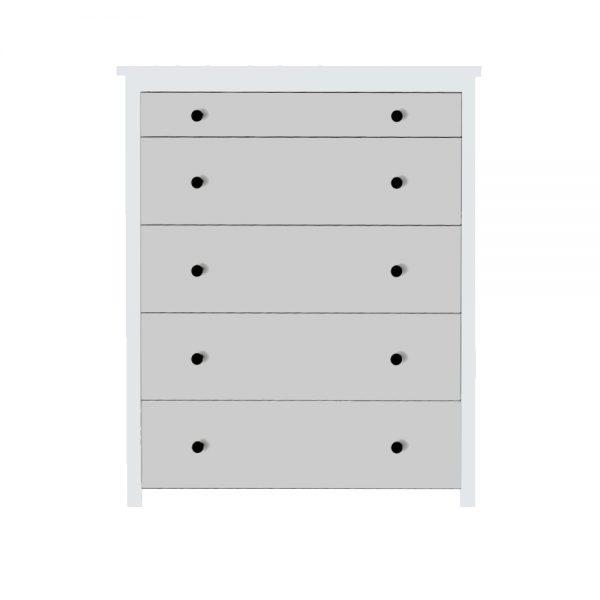 Hacks for Ikea Koppang 5 drawer chest